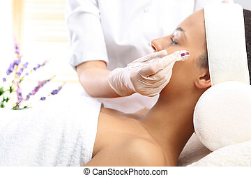 Mesotherapy microneedle, the woman