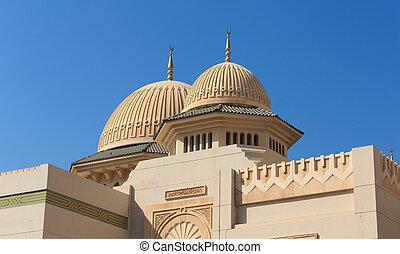 mesquita, em, sharjah, uae