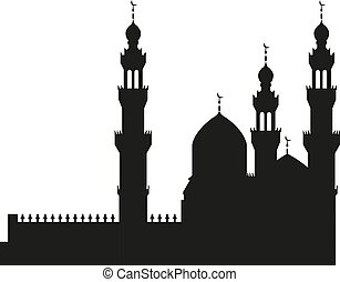 mesquita, ilustração, vetorial, desenho, modelo, ícone