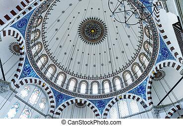 mesquita, interior, istambul