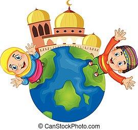 mesquita muçulmana, crianças