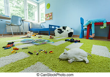 Mess in kids room