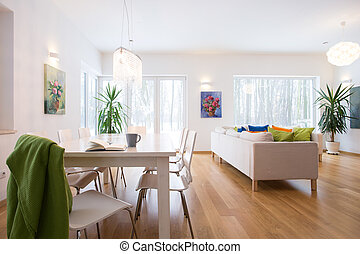 Mess in living room - Mess in spacious living room in the...