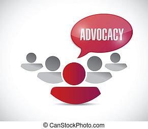 message, advocacy, illustration, équipe