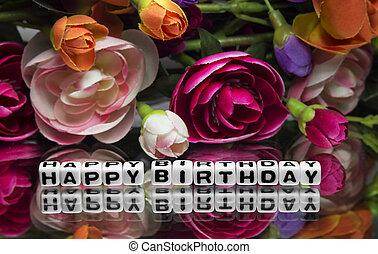 message, anniversaire, heureux
