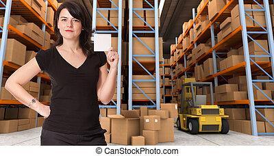 Message at distribution warehouse e