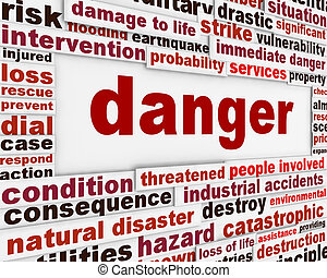 message, avertissement, fond, danger