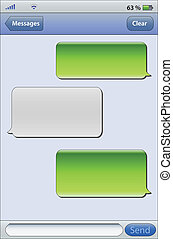 Message blue two - Place your own text in the message boxes,...