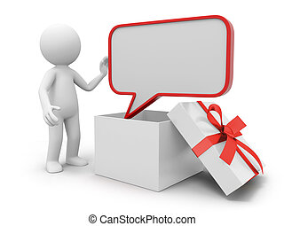 Message board - a 3d person taking a message board from a...
