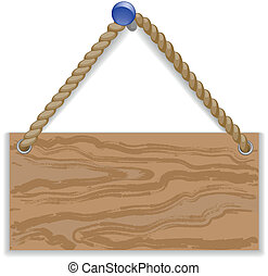 Message board - Wooden message board hung on a braid