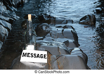 message, bouteille