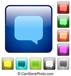 Message bubble color square buttons