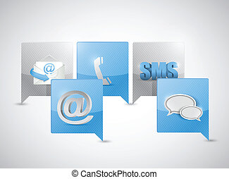 message bubble communication concept