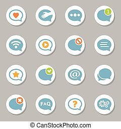 Message bubble icons set