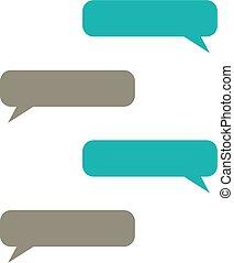 message bubbles vector