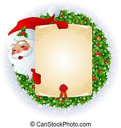 message, claus, santa