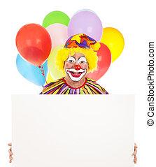 message, clown, heureux