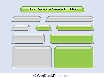 message, court, bulles, service