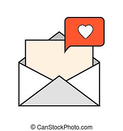 message envelope and heart notification icon