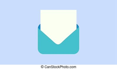 message envelope opens icons animation design
