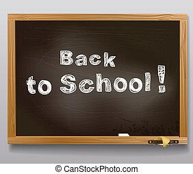 message., escuela, espalda, escritorio