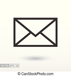 Message flat Icon. Sign envelope