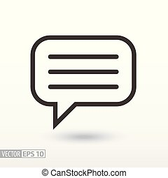 Message flat Icon. Sign message