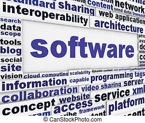 message, fond, logiciel