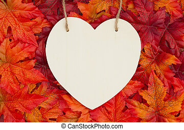 Message for the fall season with heart