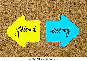 Message Friend versus Enemy
