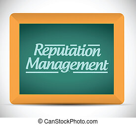 message, gestion, signe, illustration, réputation