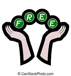 message, gratuite, main
