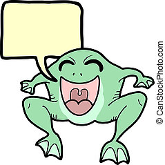 message, grenouille