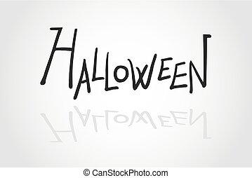 message, halloween
