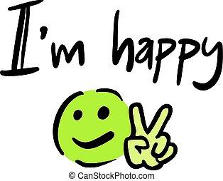 message, heureux