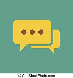 Message icon vector illustration