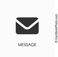 Message icon vector sign