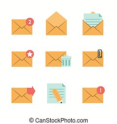 Message Icons Flat. Editable EPS format