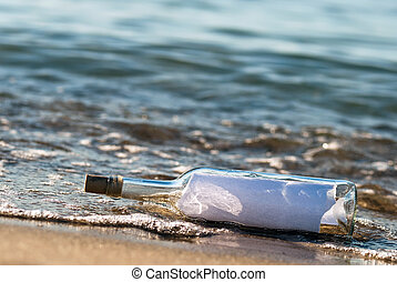 Message in a bottle in the surge - a message in a bottle...