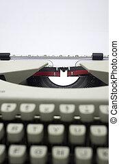 message, machine écrire