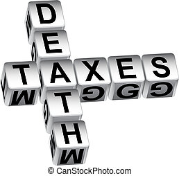 message, mort, dés, impôts