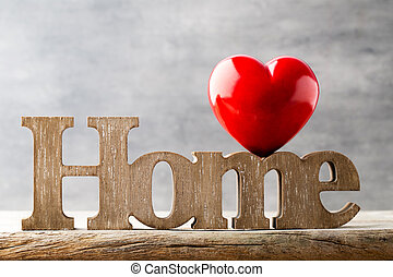 Message of home with wooden letters. - Home. Decor home. ...