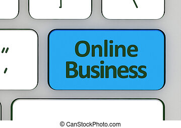 Message on keyboard enter key, for online business concepts