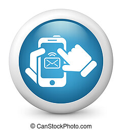 Message on smartphone icon