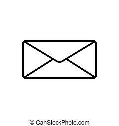 Message outline icon. Symbol, logo illustration for mobile concept and web design.