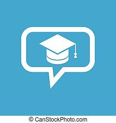 message, remise de diplomes, icône