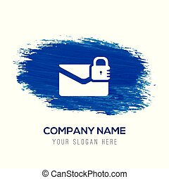 message secure icon - Blue watercolor background