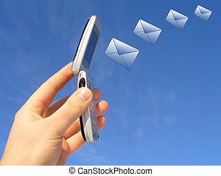 message sending via wireless device
