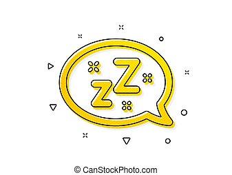 message., signo., burbuja, vector, icon., sueño, charla, zzz...