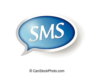 message sms, bulle, illustration, conception